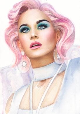 katy perry watercolor