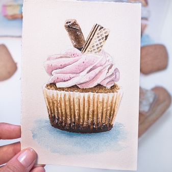napolitan cupcake